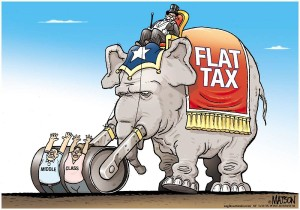 flat tax cartoon