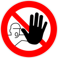 Stop with Hand