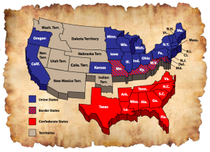 US Map Civil War