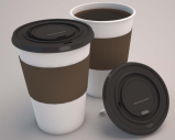 Coffee cup and lid