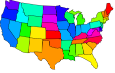 US Map Lower 48